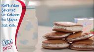 İçim Şef Krema ile Şekersiz Ev Yapımı Süt Kek