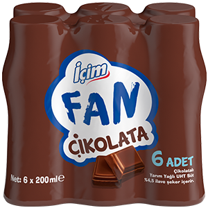 İçim Fan Çikolata<br>6x200 ml