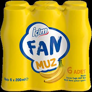 İçim Fan Muz<br>6x200 ml