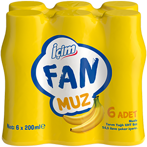 İçim Fan Muz<br>6x200 ml