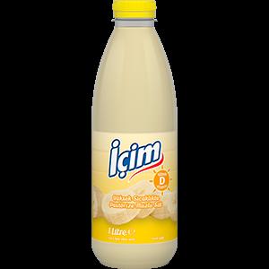 İçim Banana Vitamin D Pasteurized Milk Pet Bottle 1L