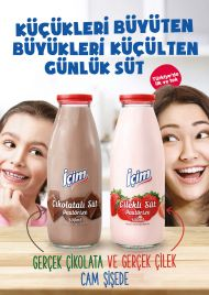 Chocolate Daily Milk in a Glass Bottle By İçim for the first time in Turkey!