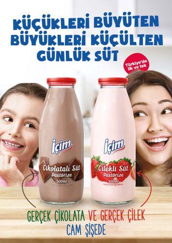 Türkiye'de İlk; İçim'den Cam Şişede Çikolatalı Günlük Süt!