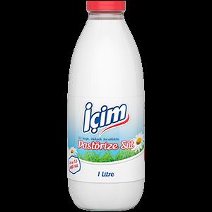 Plain Fresh Milk Glass Bottle 1L