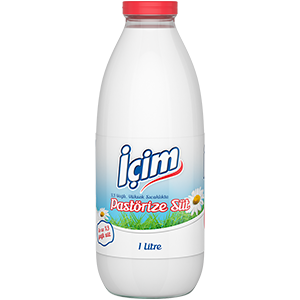 Plain Fresh Milk Glass Bottle 1L