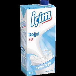Sade Yarım Yağlı Süt 1L