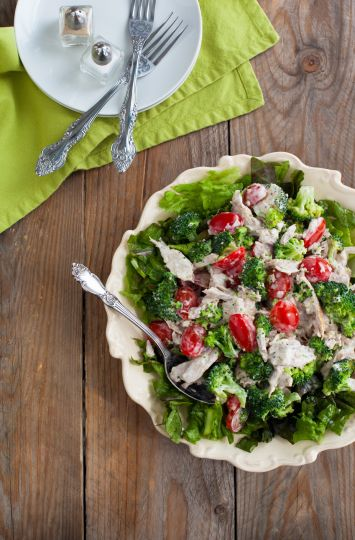 Brokolili Izgara Tavuk Salatası Tarifi