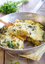 Ispanaklı İtalyan Omlet (Frittata) Tarifi