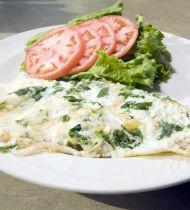 Ispanak ve Beyaz Peynirli Yumurta Akı Omleti Tarifi